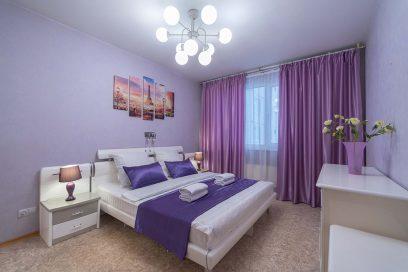 Отличная просторная красивая квартира со свежим ремонтом в новой высотке с панорамным видом на город